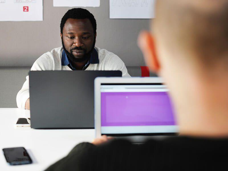 Content Team Adding Keywords to a Website