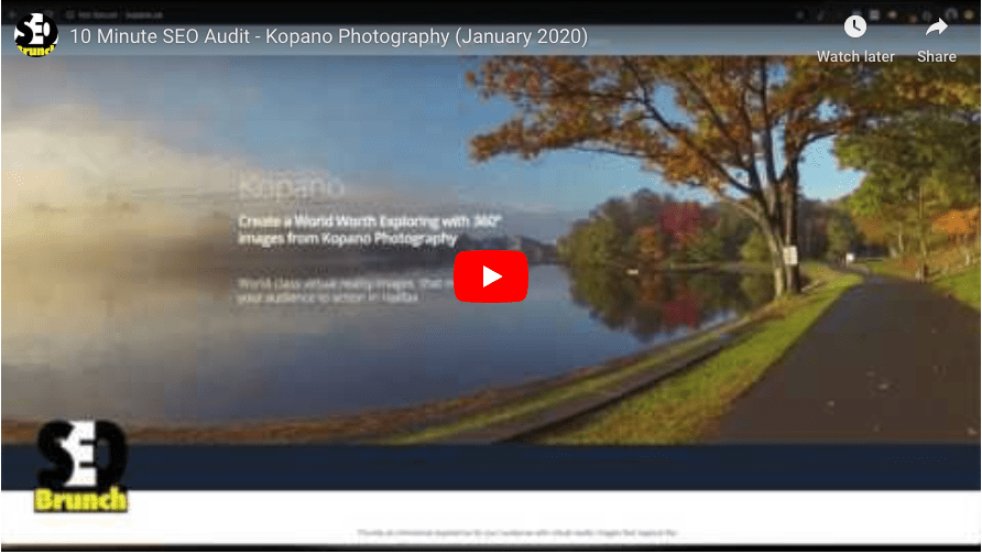 Thumbnail for Youtube Video of Kopano Photography website screen capture
