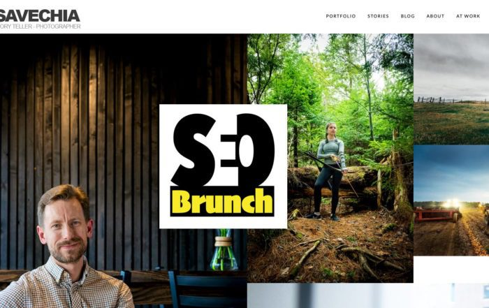 Dean Casavechia's website with the SEO Brunch logo