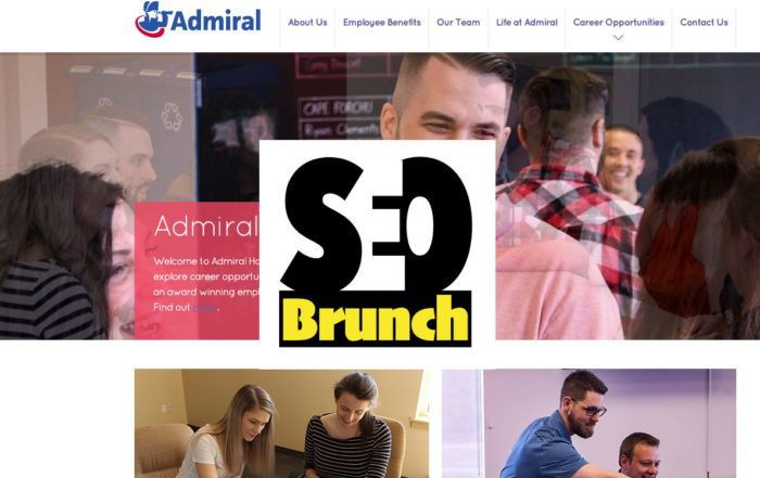 JoinAdmiral.ca website with SEO Brunch logo