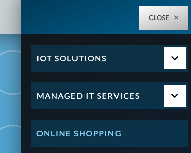 hannatech menu showing online shopping option