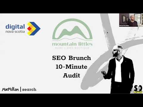 Screenshot of SEO Brunch 10 minute audit slide
