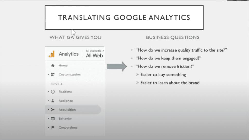 translating google analytics