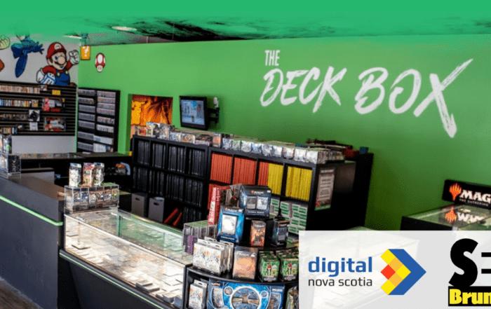 deckbox website screenshot with logos